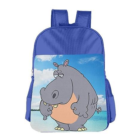 gzns1 bebé niños niñas mochilas \ R \ N diseño de playa tropical sky y hipopótamo