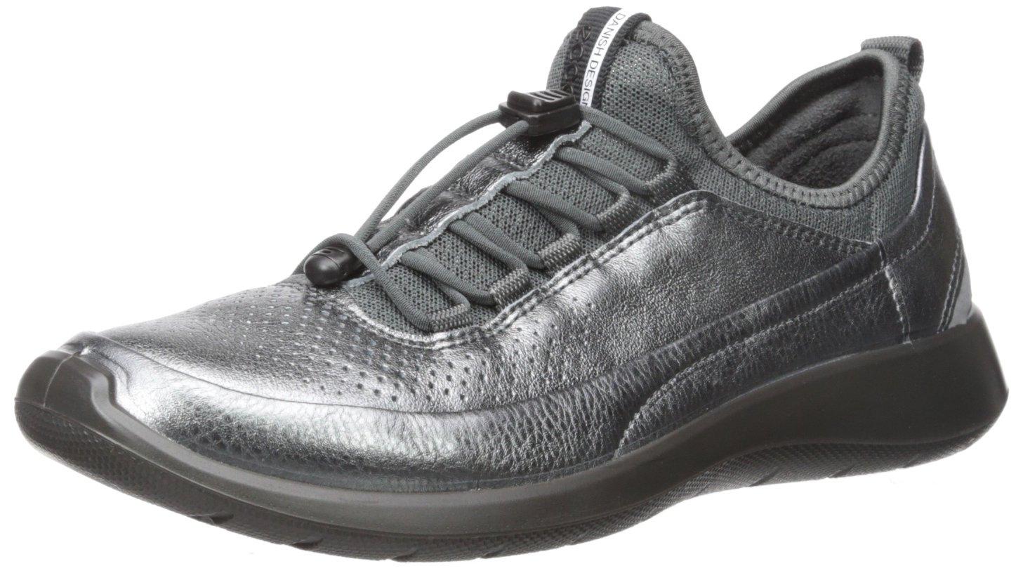 ECCO Women's Women's Soft 5 Toggle Fashion Sneaker, Dark Shadow/Dark Shadow, 39 EU/8-8.5 US