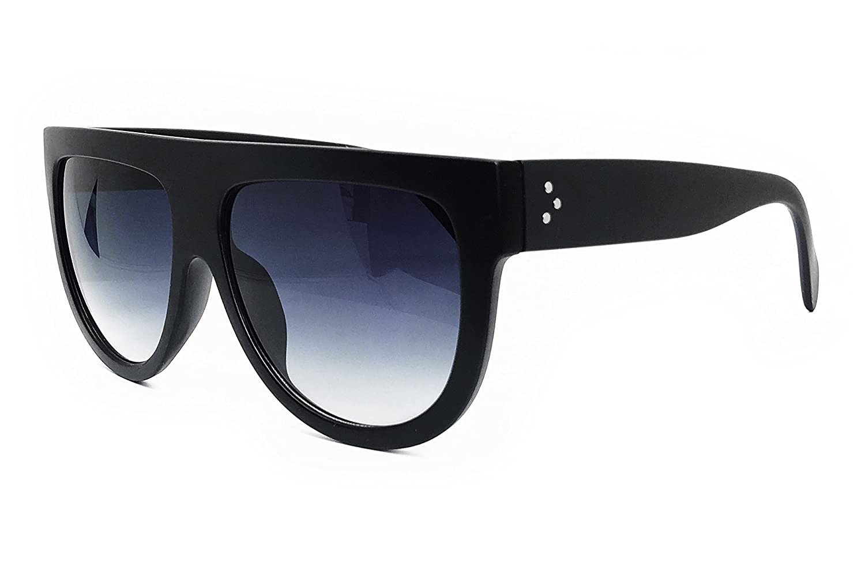 b4be3395d8cc O2 Eyewear 6520 Oversize XL Mirror Tint Havana Shadow Style Designer Flat  Top Womens Mens Sunglasses (OMBRE BLACK