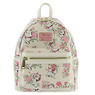 2e25132e800 Amazon.com  Loungefly Disney The Aristocats Marie Floral Allover-Print Mini  Backpack WDBK0335  Clothing
