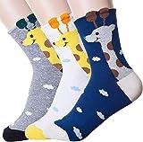 Ksocks Women's Best Socks Gift Set-Cute Animals Art Cartoon Character Funny Novelty Crew