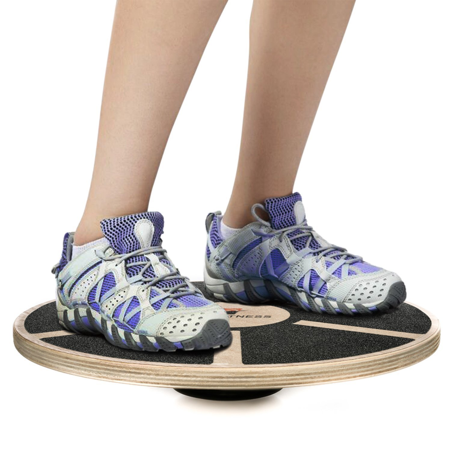 Balance exercise physical therapy - Prof Itness Wooden Balance Board Exercise Fitness And Physical Therapy Non Slip Safety Top Tone Muscles Strengthen Core And Injury Rehab