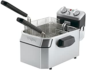 10 lb Deep Fryer Waring Commercial WDF1000 Heavy-Duty 120V Single