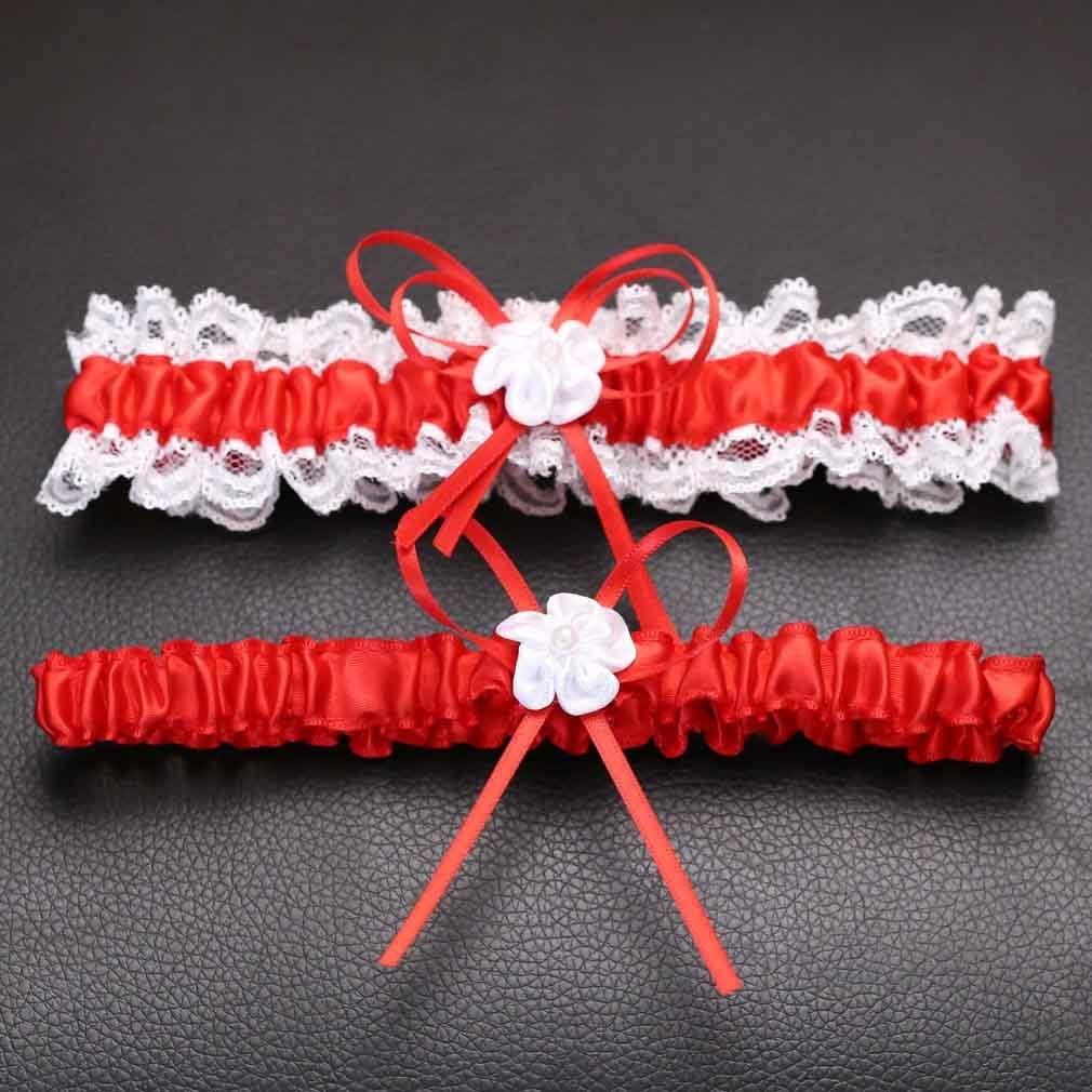 Xiang Ru Wedding Supplies Bowtie Lace Garter Leg Ornaments for Women