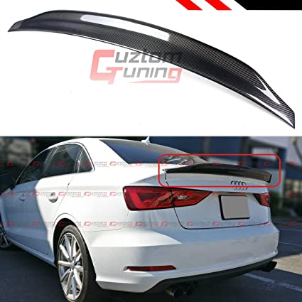 Cuztom Tuning For 2014 2018 Audi A3 S3 Rs3 Sedan Cat Style Highkick Carbon Fiber Trunk Spoiler Wing