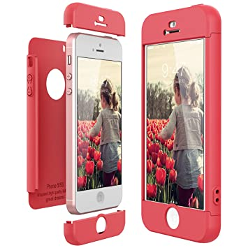 4f29a769b7b CE-Link Funda para Apple iPhone 5 5S Se Rigida 360 Grados Integral, Carcasa