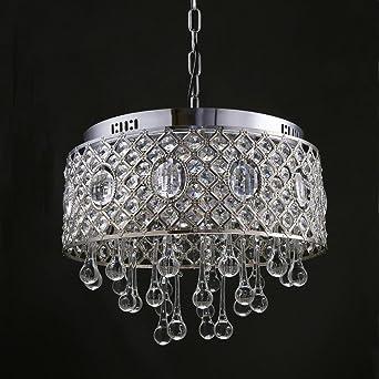Modern Zeitgenössisch Kristall Hängeleuchte Metall Chrom Hollow  Lampenschirm Dekorative 4 Flammig Kronleuchter Fashion Design Hängelampe  Lüster