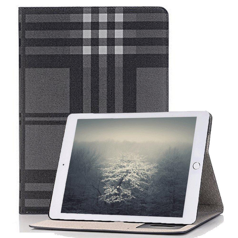 Hulorry Mini 4 iPad Smart Case, Fashion Lattice Ultra Slim Lightweight Case Smart Folio Stand Hard Cover [No Slip Surface] for iPad Mini 4 7.9 inch by Hulorry