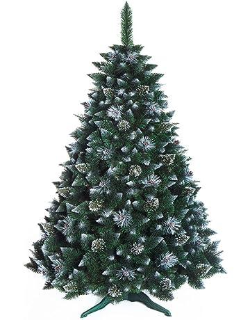 ARBOL Navidad Grande De Pino Cubierto de Cristales de Nieve Nuevo, en Caja, Bosque