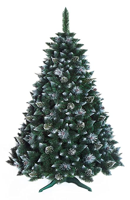 7ft Christmas Tree.Christmas Tree 7ft New Boxed Traditional Forest Green Luxury Tree 220cm Snow Covered Pine With Crystals