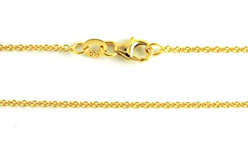 14K Solid Yellow Gold Rolo 1.5mm Chain