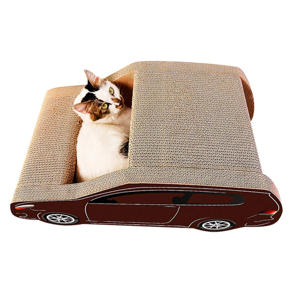 NBRTT Corrugated Paper Grinding Claw Toy Pet Scratcher Board For Sofa Predection Car-Shaped Cat Scratch Nest Durable Scraper Car Play Litter Climbing Frame Lounge