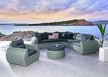 Loungeset Loungemöbel Lounge Garnitur Sofa Sessel Geflecht ...