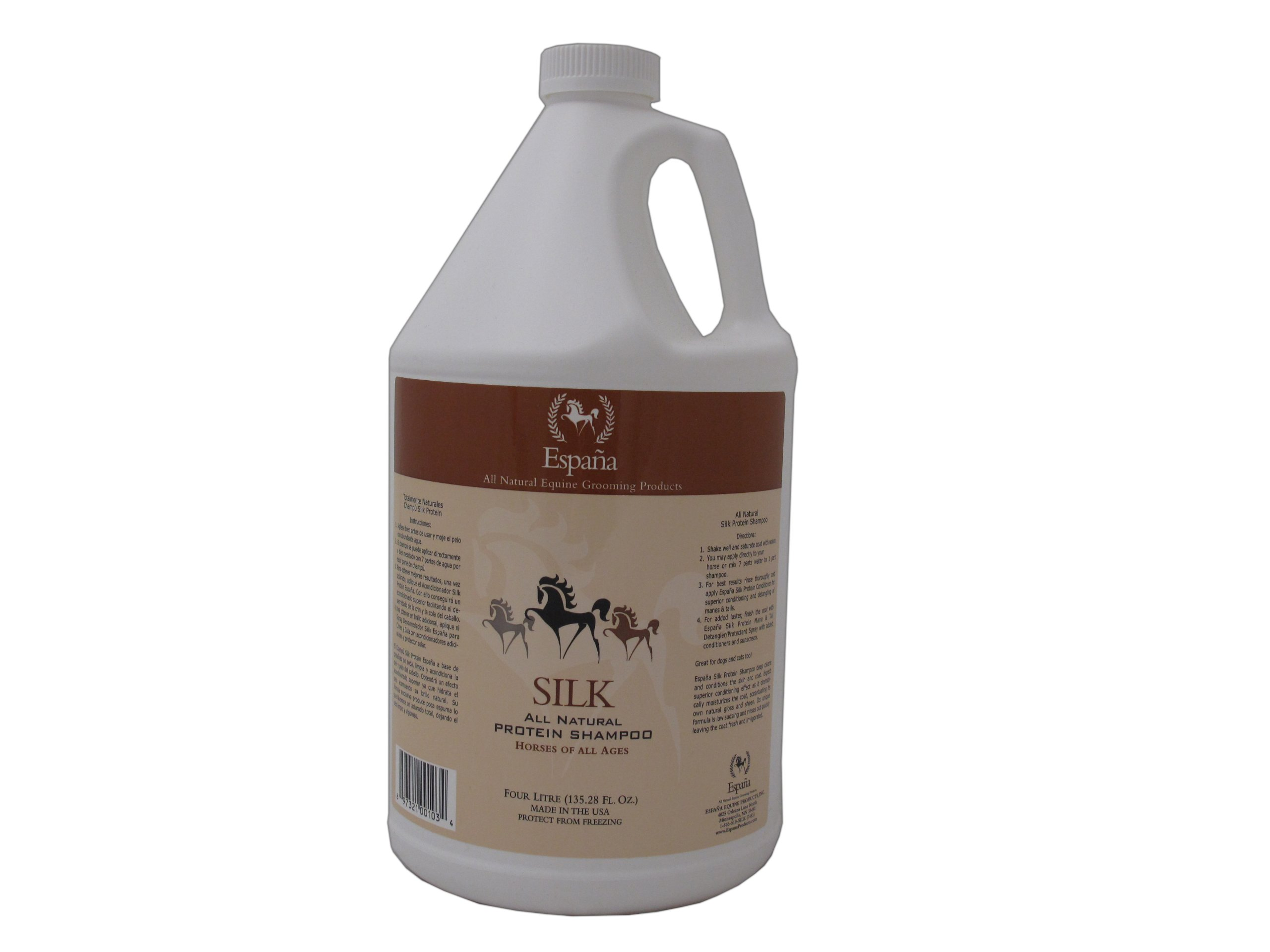 Espana Silk ESP0025E Specially Formulated Silk Protein Shampoo for Horses, 135.28-Ounce by EspanaSILK