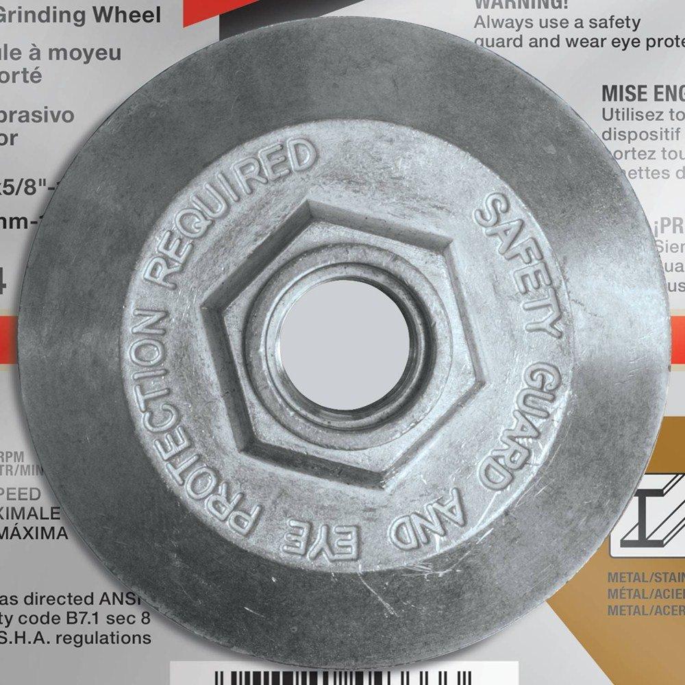 Makita A-96001-25 36 Grit Hubbed INOX Grinding Wheel (Pack of 25), 6'' x 1/4'' x 5/8''-11'' by Makita (Image #3)