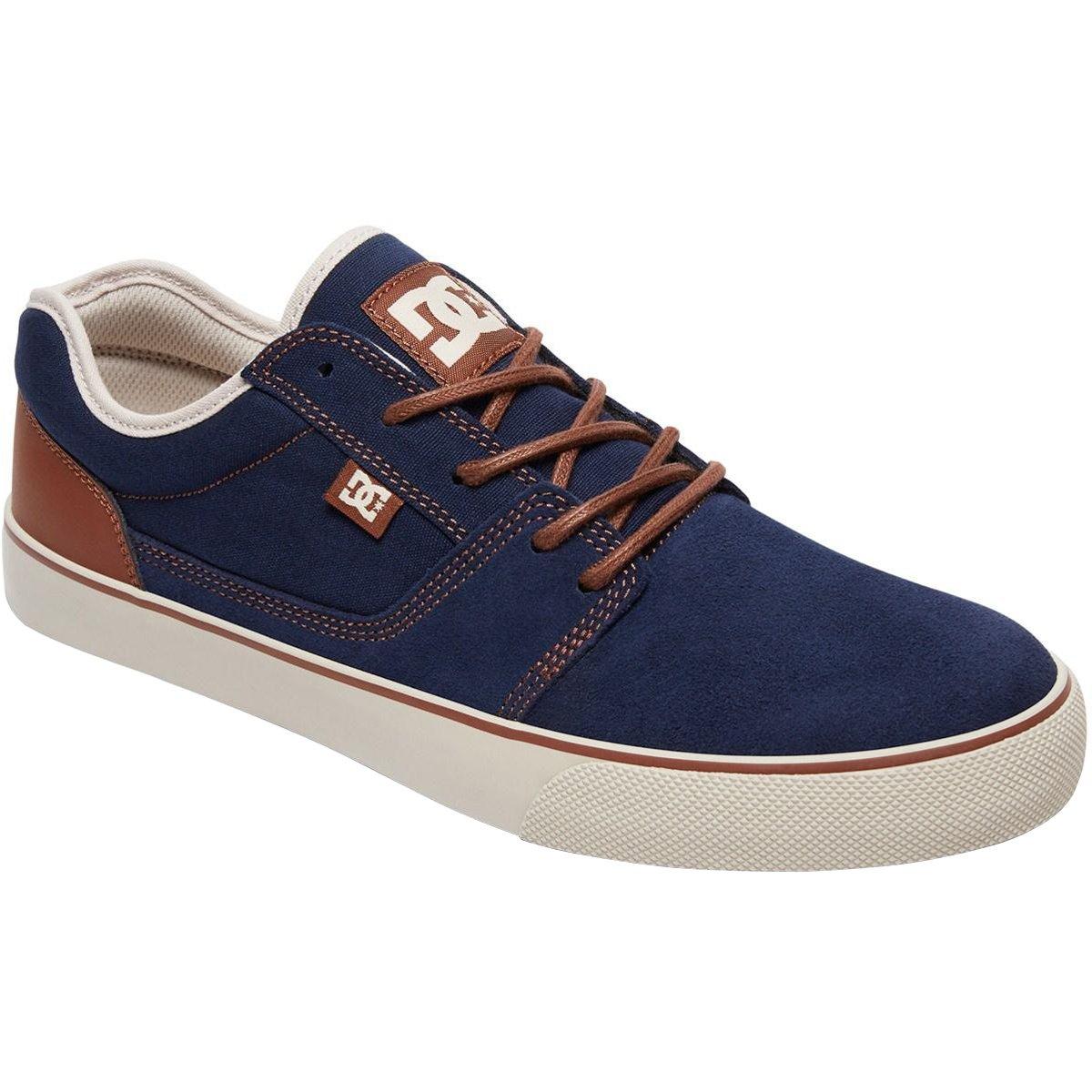 DC Men's Tonik SE Skate Shoe 7.5 D D US Navy/Camel