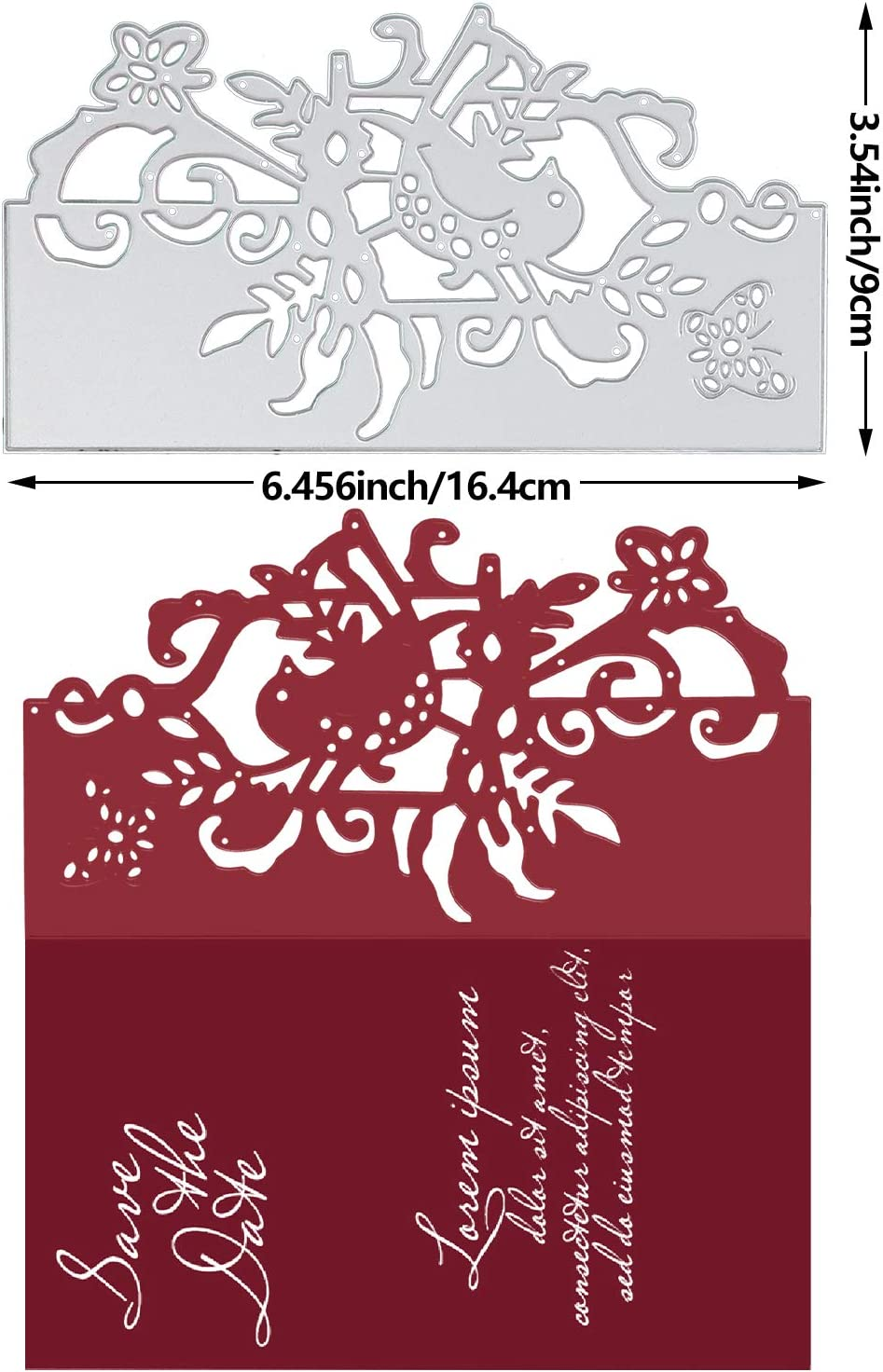 para manualidades para coser puntos Troquel de corte marco rect/ángulo hecho a mano AOLYDA