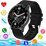 Smart Watch, Smartwatch for Android Phones, Waterproof Fitness Watch with Blood Pressure Heart Rate Monitor Sport…
