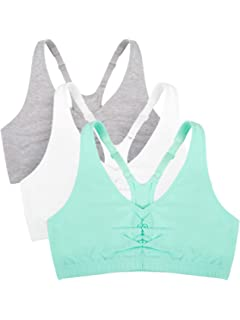 180542a5b8 Fruit of the Loom Women s Adjustable Shirred Front Racerback Bra (Pack of 3)