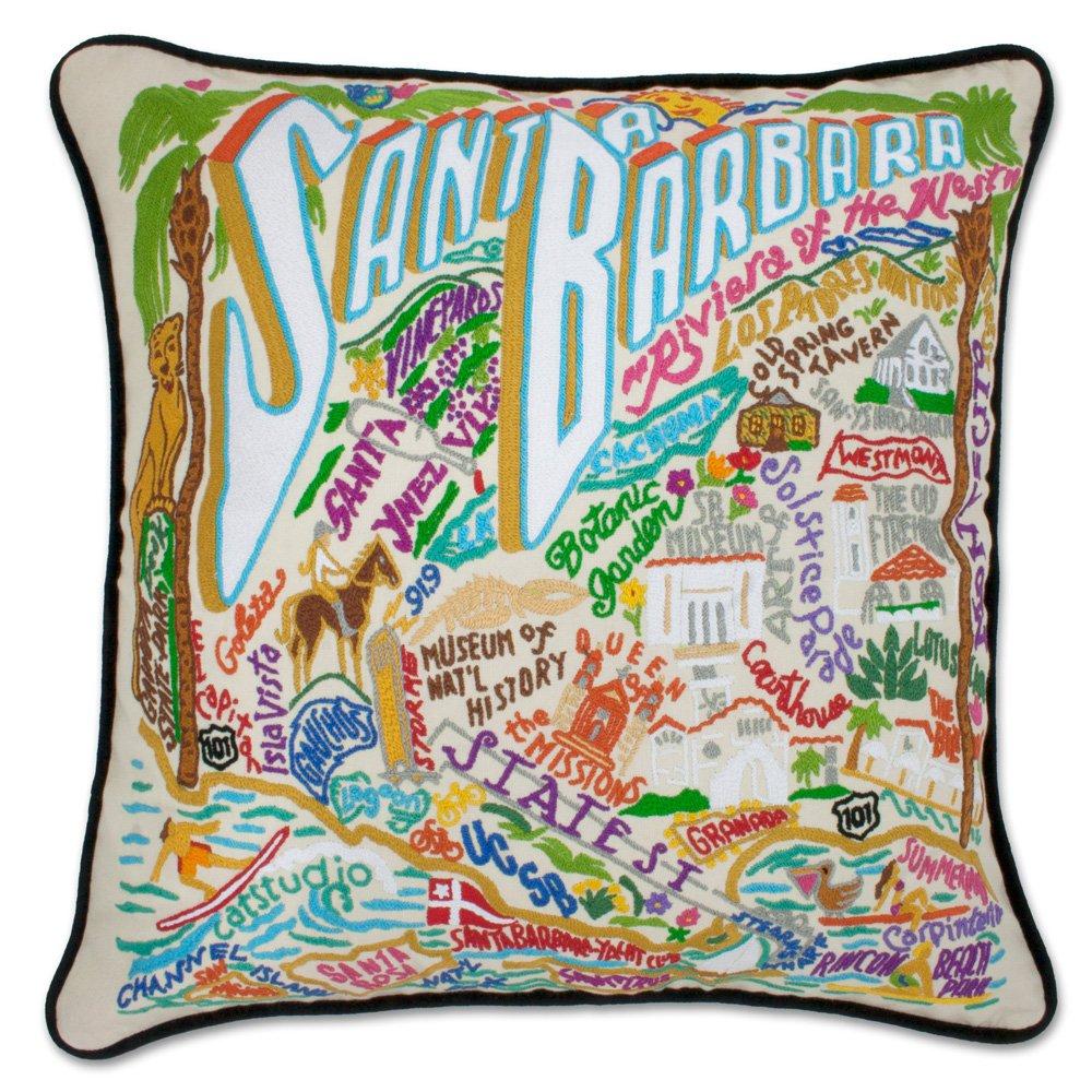 Catstudio Santa Barbara Hand Embroidered Pillow