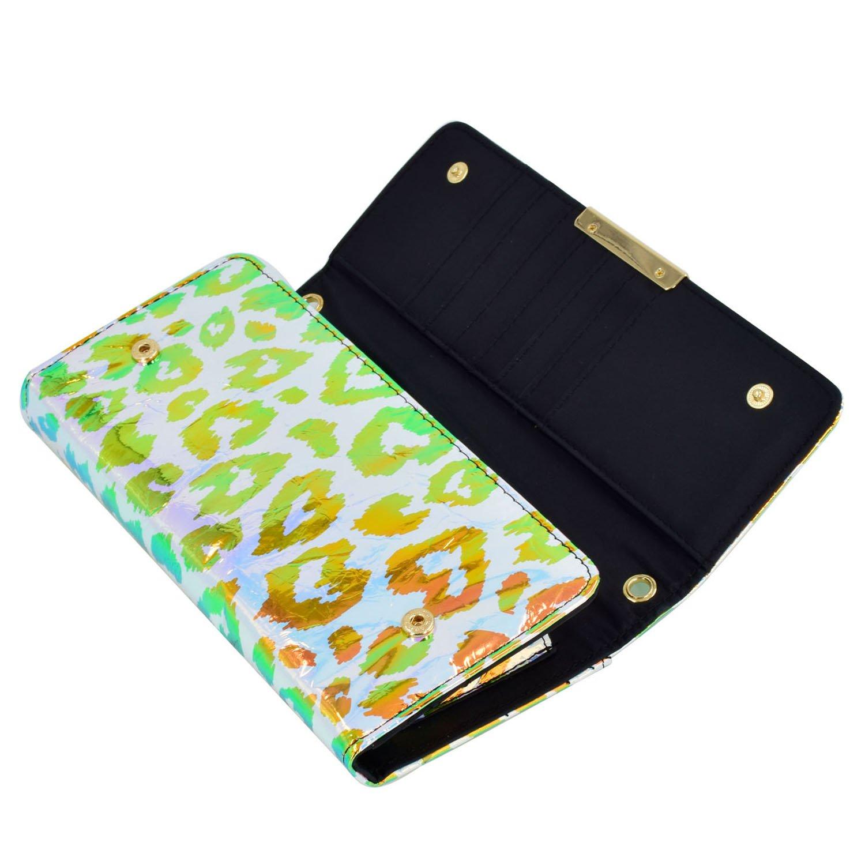 ESA Phone Purse RFID Blocking Mini Crossbody Bag Trifold wallet with Strap 170890
