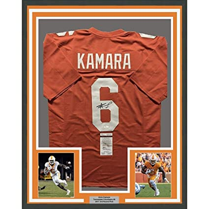 ab4c36a0 Alvin Kamara Signed Jersey - FRAMED 33x42 Orange COA - JSA Certified -  Autographed College Jerseys