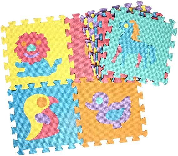 10 Unids Puzzles de suelo Puzzle Jugar Mat Baby Puzzle Mat ...