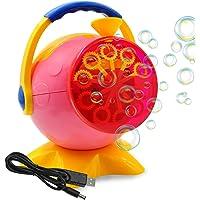 Máquina de burbujas para niños, Máquina automática de burbujas con cable cargador USB para exteriores