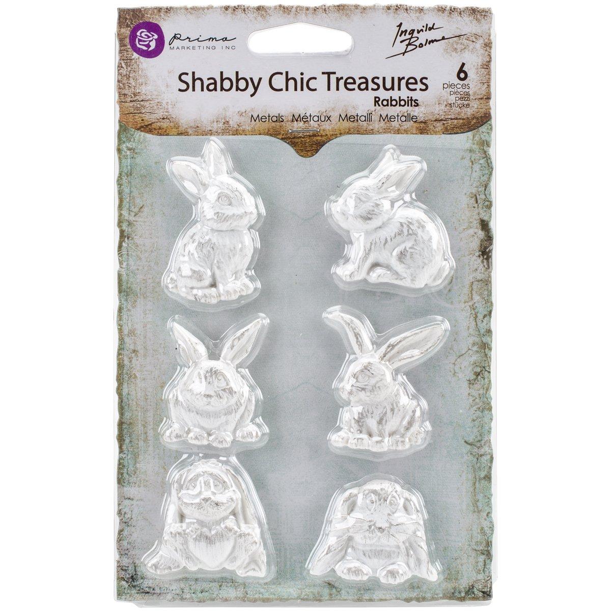 Prima Marketing RE8-92616 Shabby Chic Treasures Resin-Rabbits