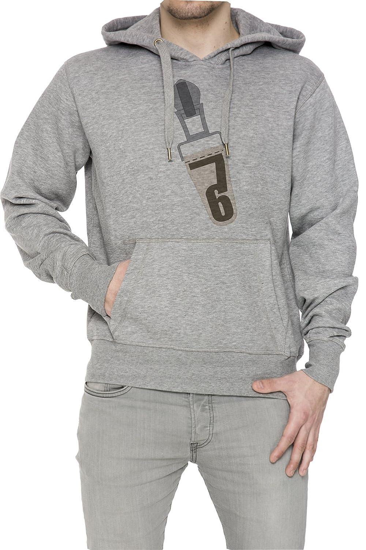 76 Gris Algodón Hombress Sudadera Sudadera Con Capucha Pullover Grey Men's Sweatshirt Pullover Hoodie