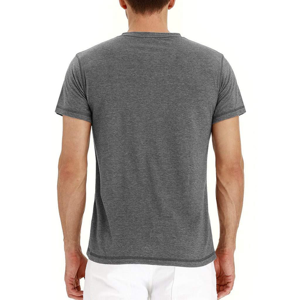 Xturfuo Mens Tops 2019 Summer Casual Cotton Short Sleeve