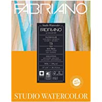 Fabriano Studio Watercolor Paper 90 lb. Hot Press 75-Sheet Pad 11x14""