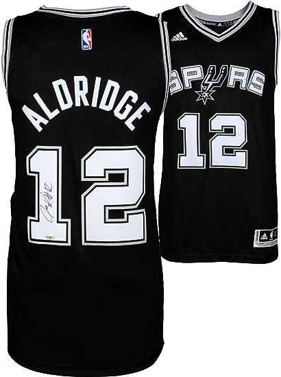 ef819050f LaMarcus Aldridge San Antonio Spurs Autographed Black Swingman Jersey -  Fanatics Authentic Certified