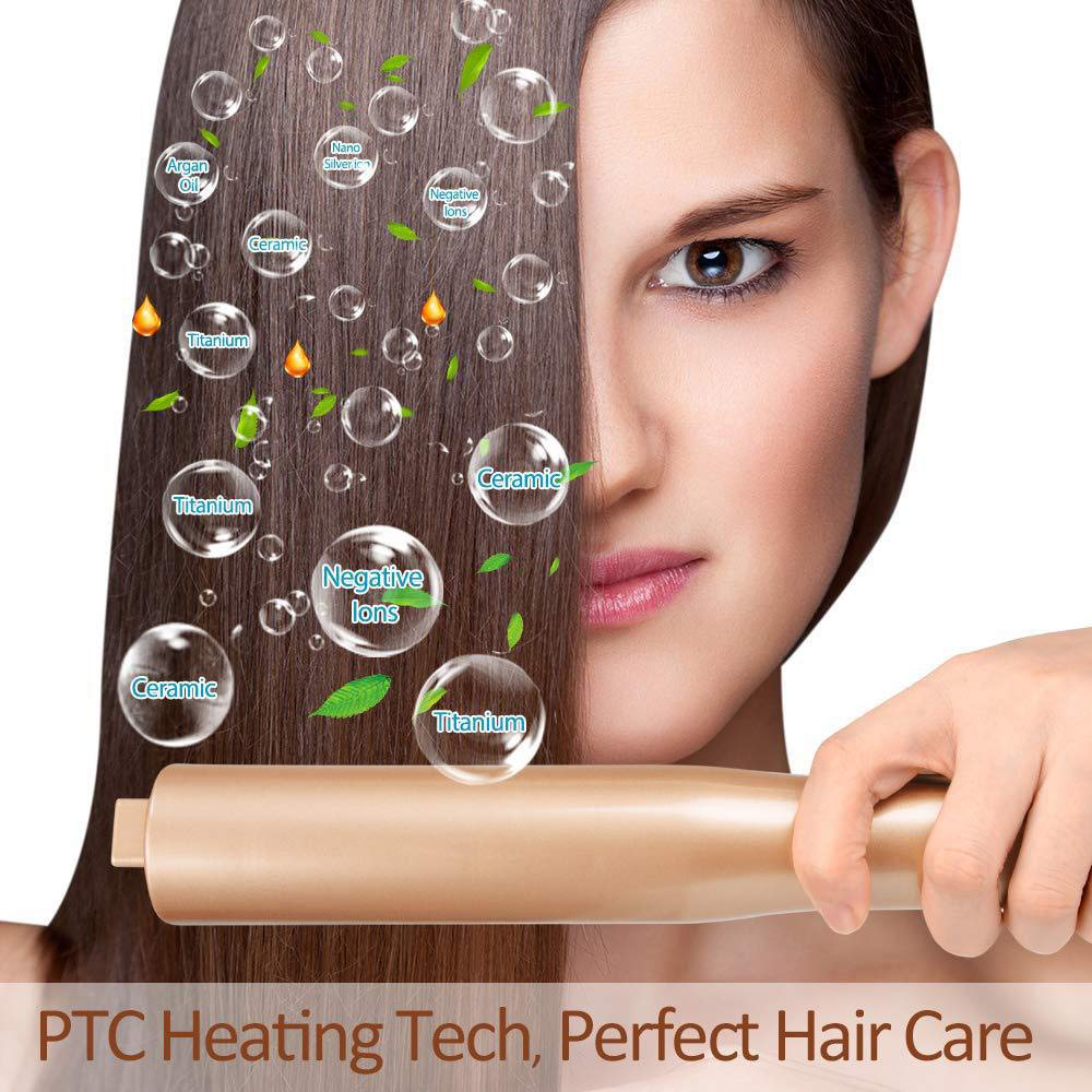 Professional Salon Styling STRAINER & CURLING IRON, Automatic Release 2 in  1 Twist Straightening...