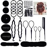 Lictin Haare Frisuren Set Frisurenhilfe Set Haare Styling Set Haar Clip-Pads Haar Frisur Klammer Haar Styling Werkzeug Set Haar Styling Zubehör Haar Styling festgelegt Kit (schwarz)
