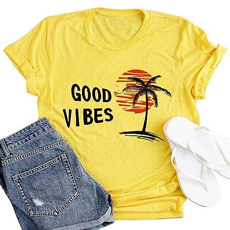 Amazon.com: Sunshine Graphic Tees Camisas para Mujer Graphic ...