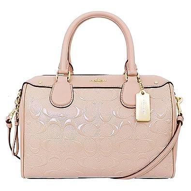 1db4e8d9ac23f COACH MINI BENNETT SATCHEL LIGHT GOLD PLATINUM F11920  Handbags  Amazon.com