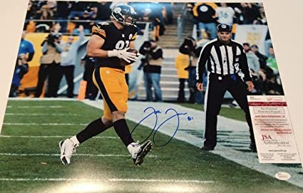 Jesse James Autographed Signed Pittsburgh Steelers 16x20 Photo - JSA  Authentic 739f72c0c