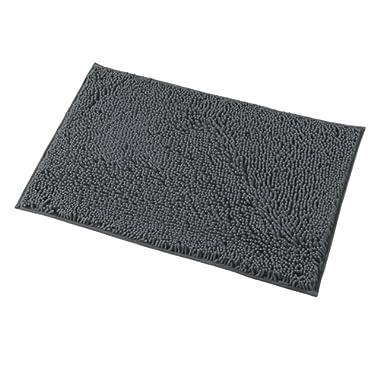 Mayshine Bath mats for Bathroom Rugs Soft, Absorbent, Shaggy Microfiber,Machine-Washable, Perfect for Door Mat (20X32 inch Dark Gray)