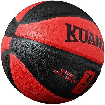Kuangmi(クウアミ) バスケットボール 部活バスケ 遊び 7号球 ボール(黒+赤
