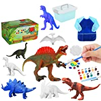 Biulotter Kids Dinosaur Painting Kit - Dinosaurs Toys Art and Craft Supplies Party Favors Creativity DIY Birthday Gift Paint Your Own Dinosaur for Kids Boys Girls Age 4 5 6 7 8 Years Old