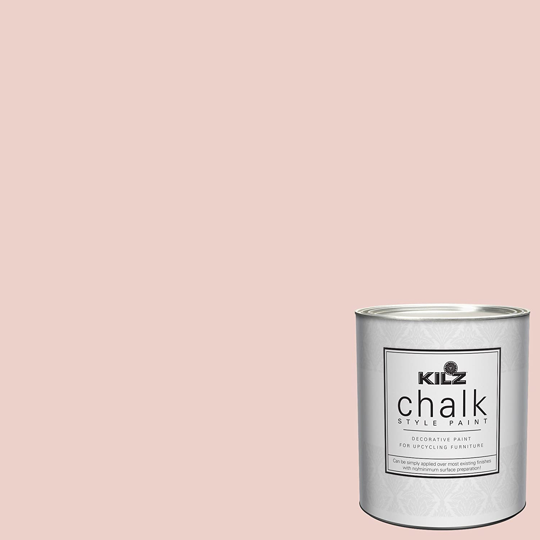 KILZ 00003704 Interior Chalk Style Ultra Flat Decorative Paint for Furniture, 1 Quart, Cameo Coral