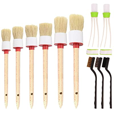 SUBANG 11 Pieces Car Cleaner Brush Set Including Detail Brush (Set of 6),3 pcs Wire Brush and 2 pcs Automotive Air Conditioner, Auto Detailing Brush for Cleaning Wheels, Interior, Exterior, Leather: Automotive [5Bkhe2014154]
