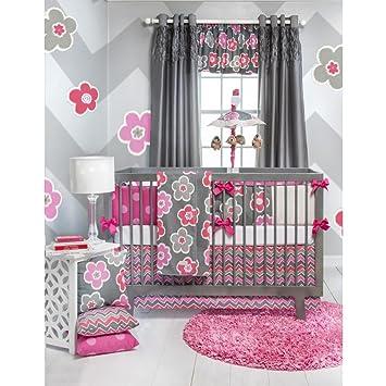 Addison 4 Piece Baby Crib Bedding Set With Bumper By Sweet Potato