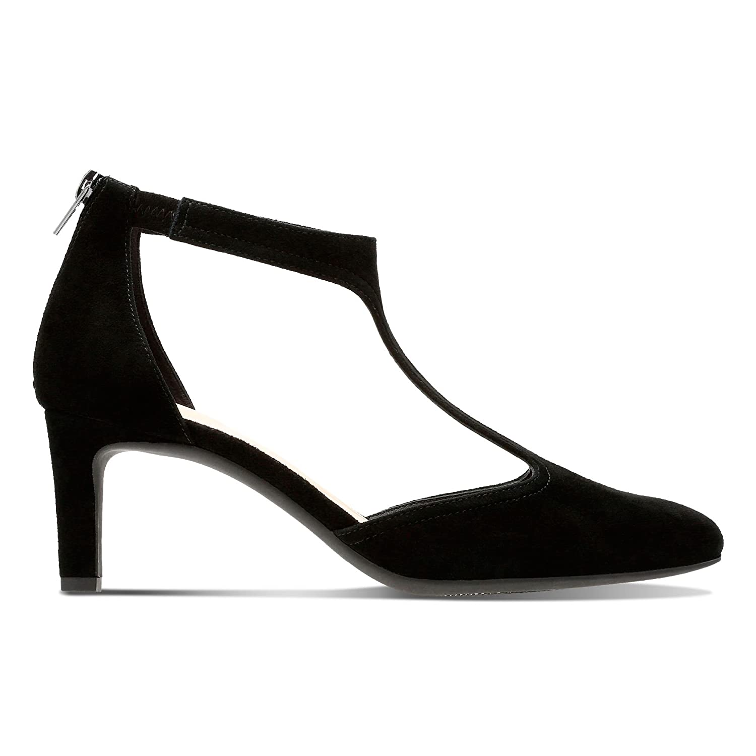 7c17cfe7 Clarks Calla Lily Suede Shoes in Black: Amazon.co.uk: Shoes & Bags