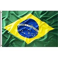 Large Brazilian Brazil Flag 90cm x 150cm - 3ft x 5ft