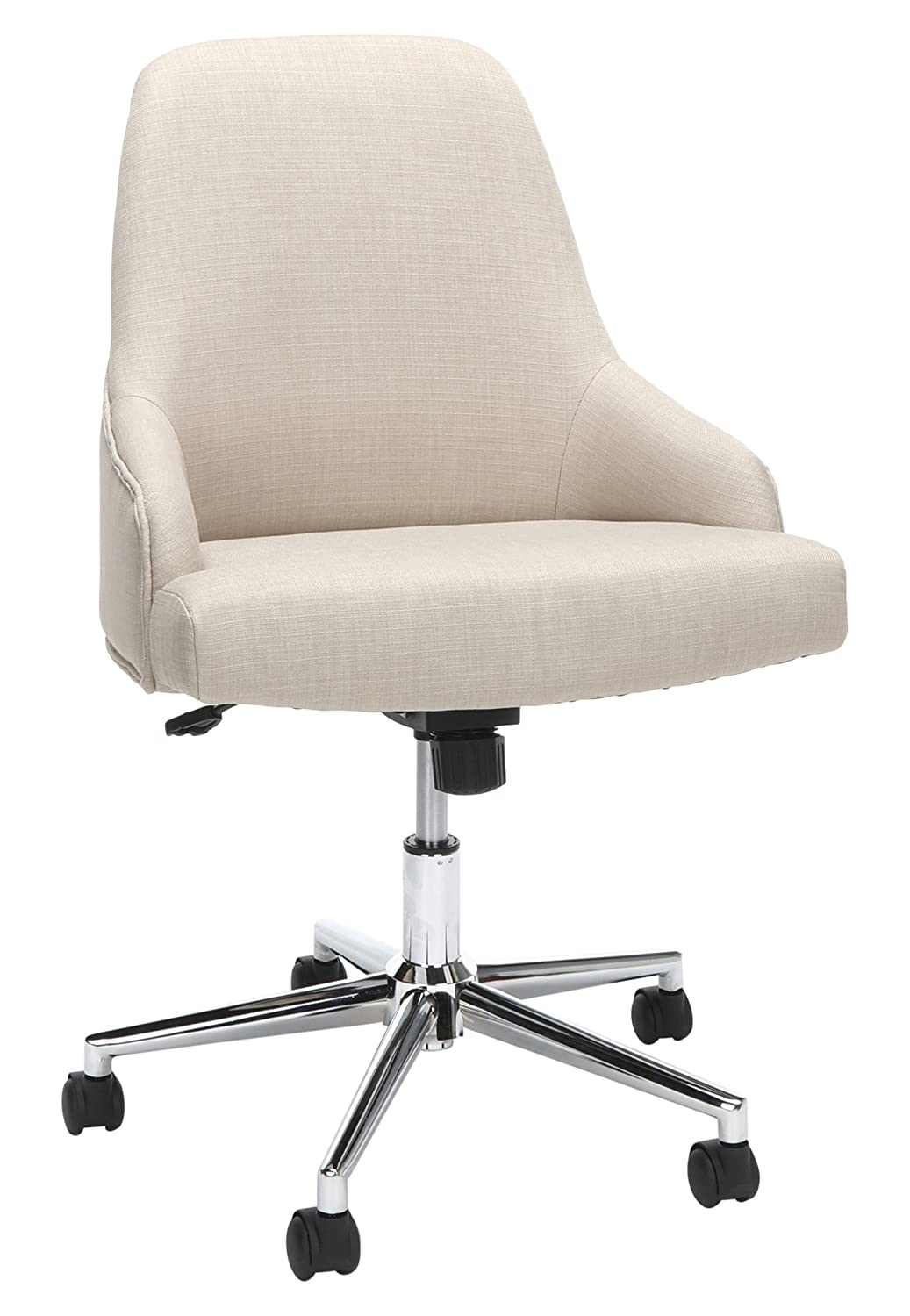Essentials Upholstered Home Desk Chair – Ergonomic Office Chair for Conference Room or Office, Tan