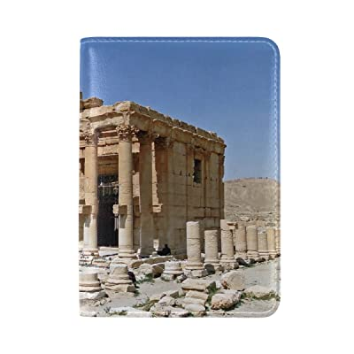 Palmyra Syria Temple Leather Passport Holder Cover Case Travel One Pocket