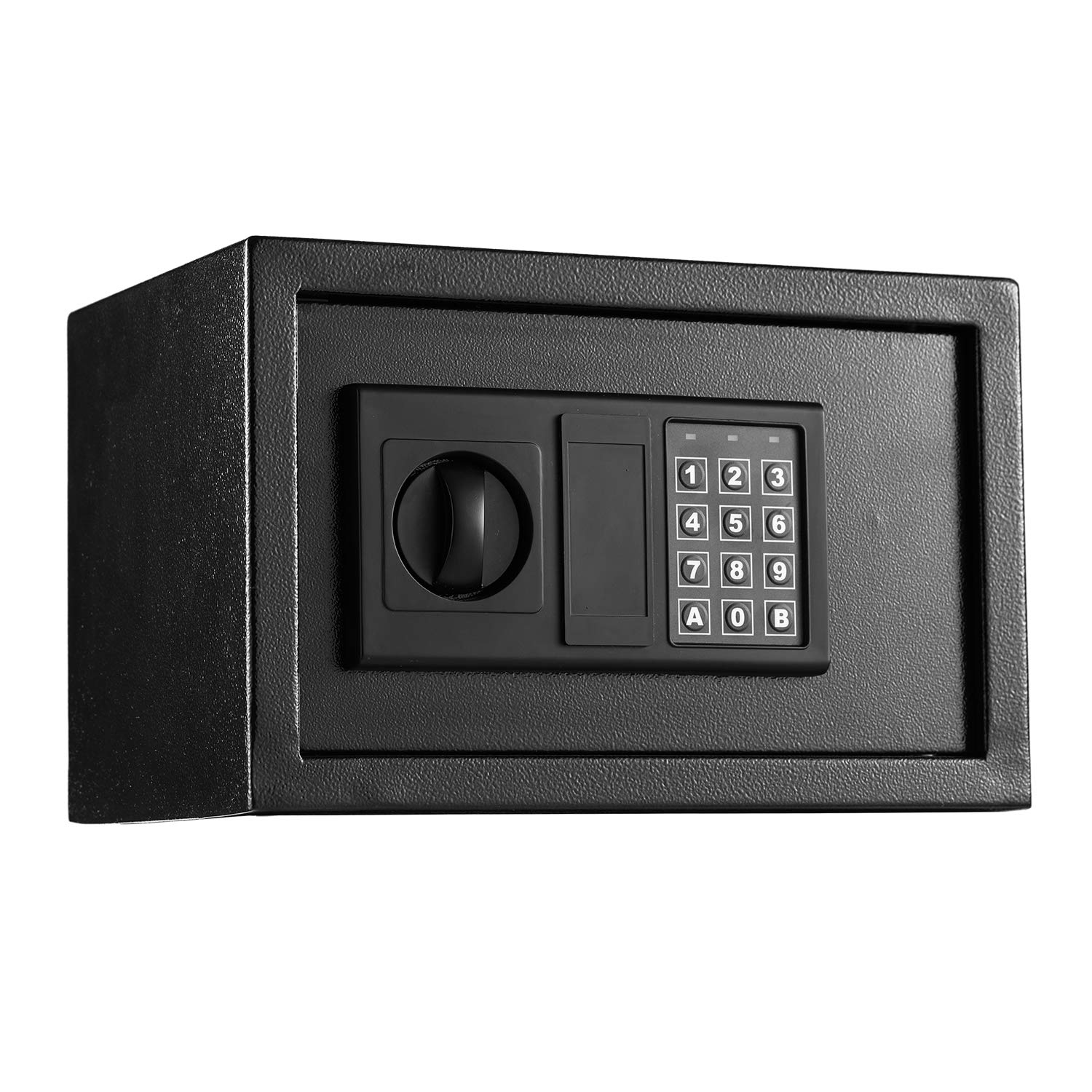 Digital Electronic Security Lock Cabinet Safe Box, Fireproof and Waterproof Solid Steel Wall-Anchoring Design Safe for Wallet Jewelry Cash Storage, Includes 2 Emergency Keys