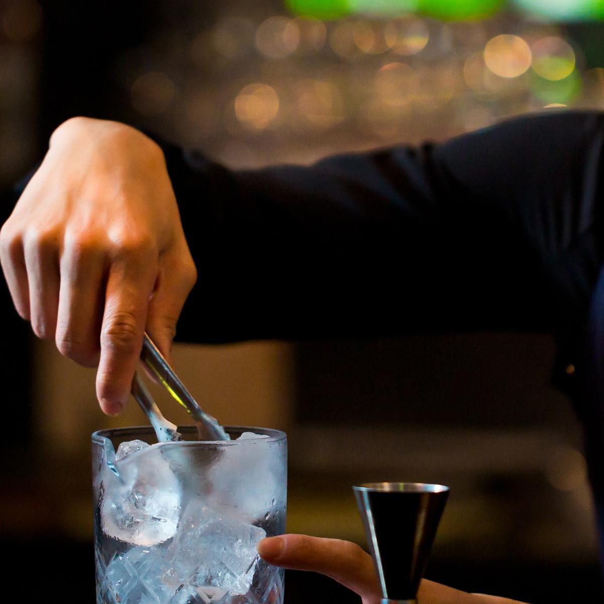 Compra FOONEE - Kit de Barra de coctelería de Acero Inoxidable, 19 oz, Base acrílica con fórmula de cóctel, Accesorios de Bar perfectos para un Carrito de ...